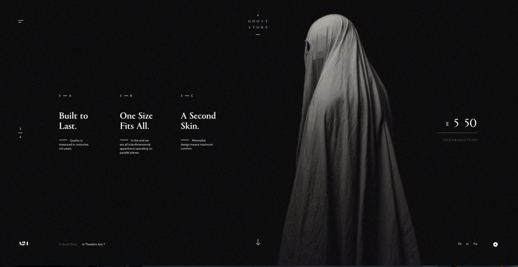 A Ghost Story Promo Website